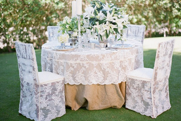 lace chairs lace tablecloths wedding decoration