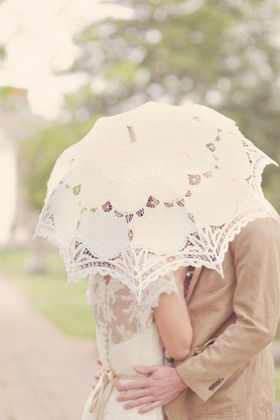 lace umbrella summer wedding