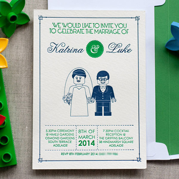 lego wedding invitation