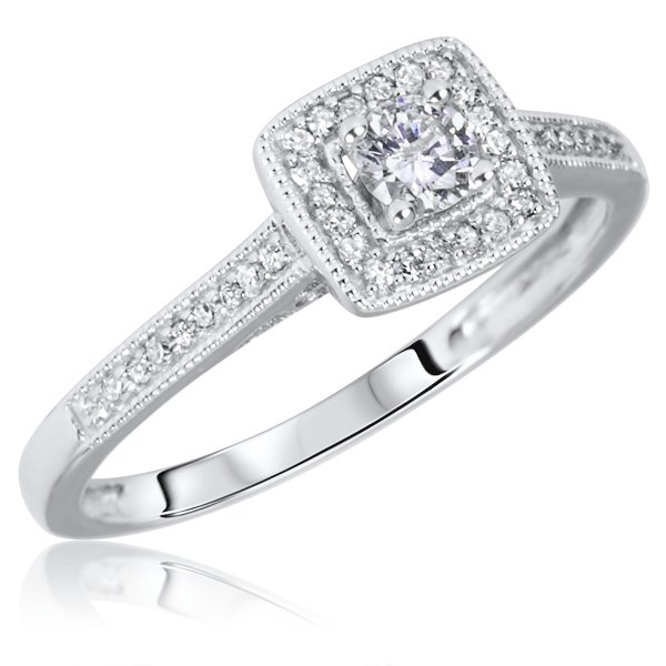 diamond halo engagement ring - Gorgeous Wedding Rings