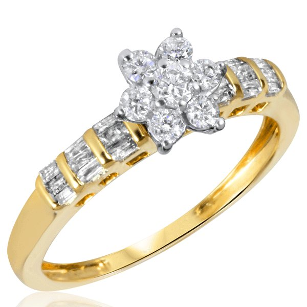 flower shaped engagement ring - Gorgeous Wedding Rings