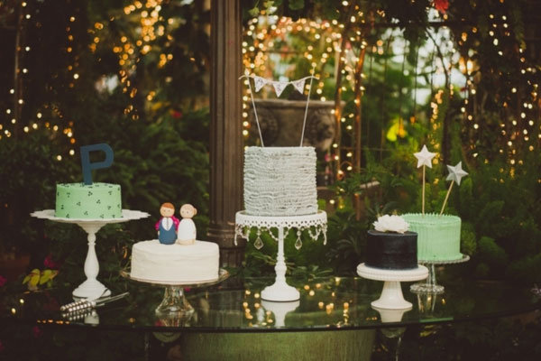 eclectic wedding cakes