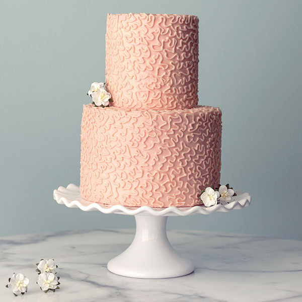 cornelli lace wedding cake