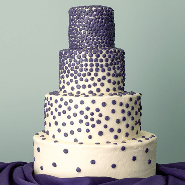 pressed dots wedding cake