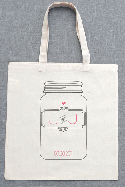personalized mason jar tote