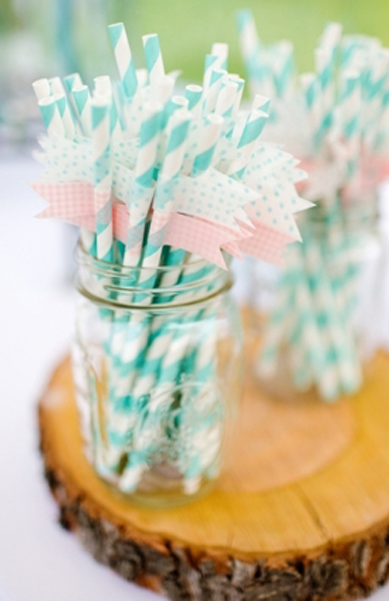 mason jar with straws