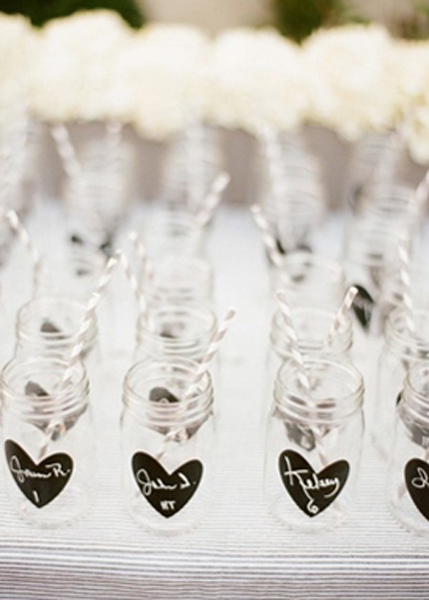 mason jar place cards