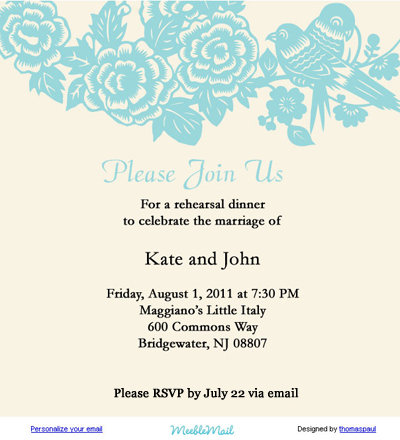 idea to try pretty email stationery for invites bridalguide