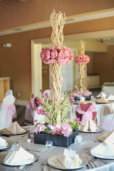 unique branch centerpieces
