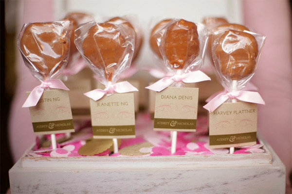 edible wedding escort cards