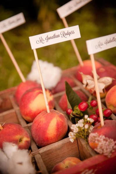 fruit wedding escort cards