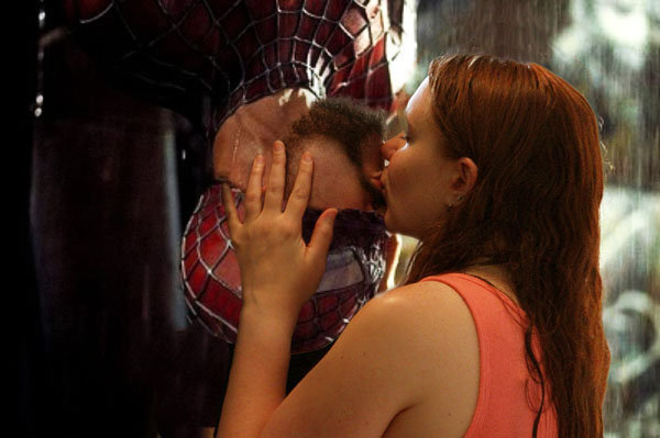 spiderman engagement photo