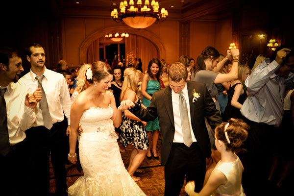 bride groom dancing