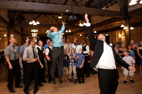 Garter Toss Wedding Reception Photo Credit Bridal Guide