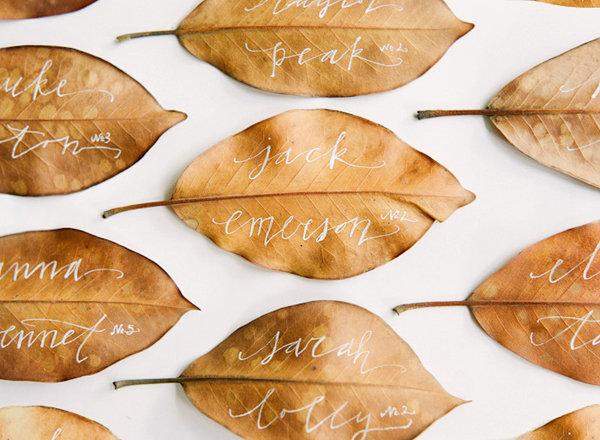 Nature Inspired Escort Cards BridalGuide