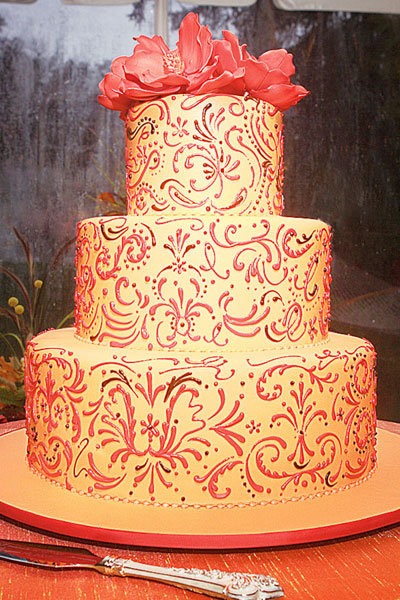 Brides and grooms have been as creative as ever when it comes to choosing a wedding cake.