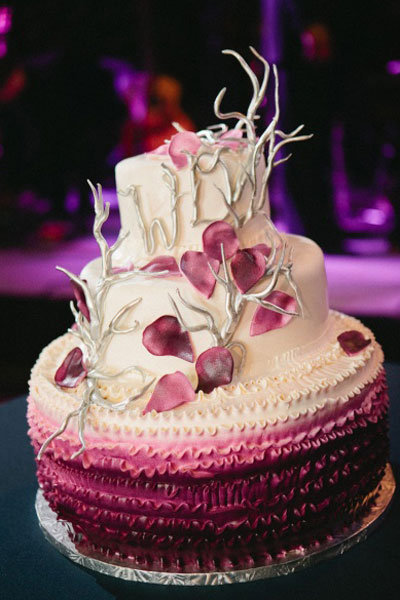 10 unique wedding cakes we love bridalguide ombre wedding cake junglespirit Gallery