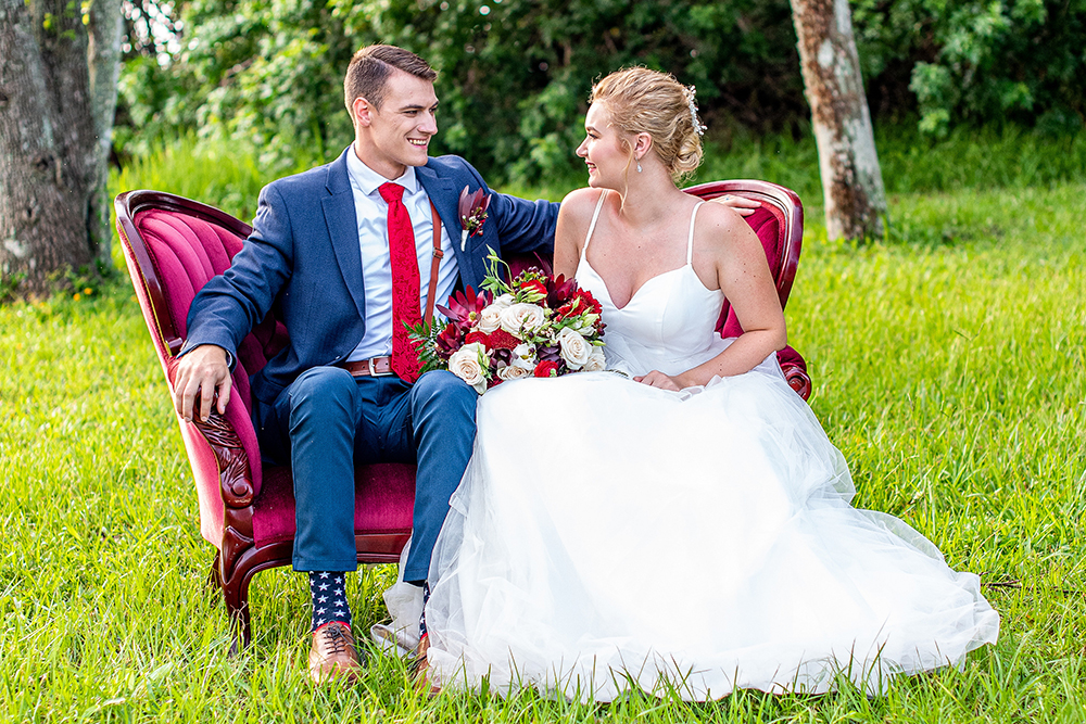 Patriotic wedding inspiration shoot
