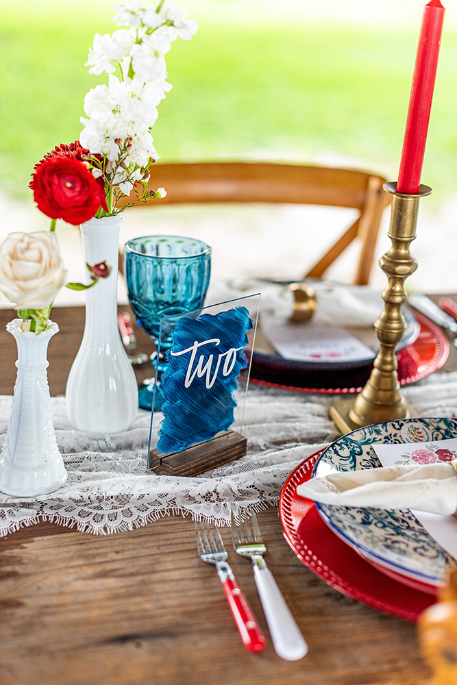 Patriotic wedding inspiration shoot