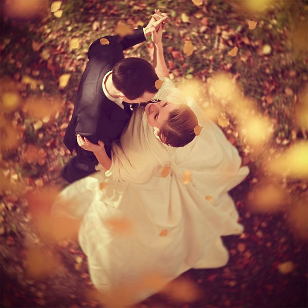 beautiful fall wedding photo