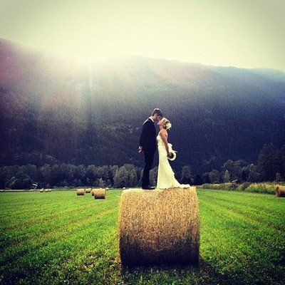 country chic wedding photo