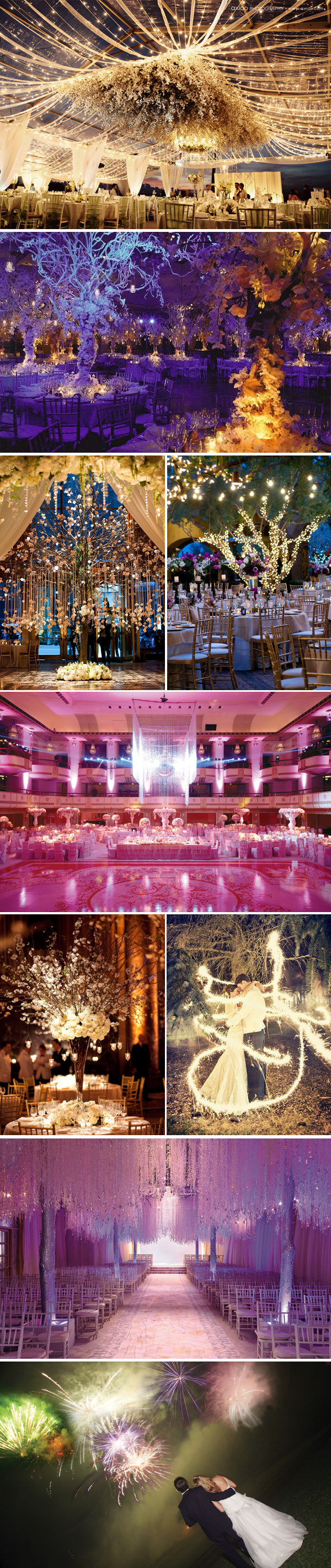 dramatic wedding decor