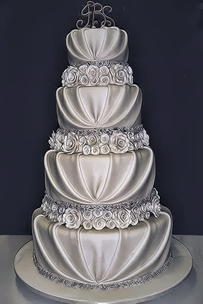 10 pretty romantic wedding cakes bridalguide. Black Bedroom Furniture Sets. Home Design Ideas