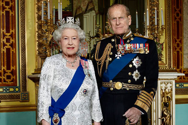 Young Prince Philip And Queen Elizabeth