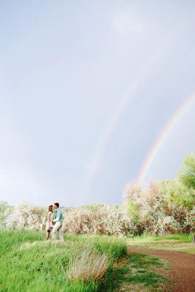 rainbow at wedding
