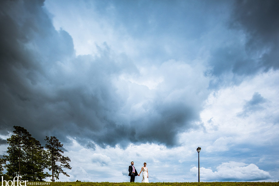storm clouds on wedding day
