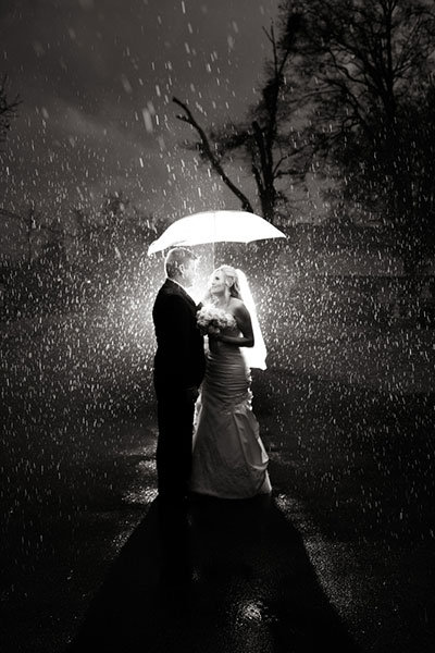 How To Get Gorgeous Wedding Photos In The Rain