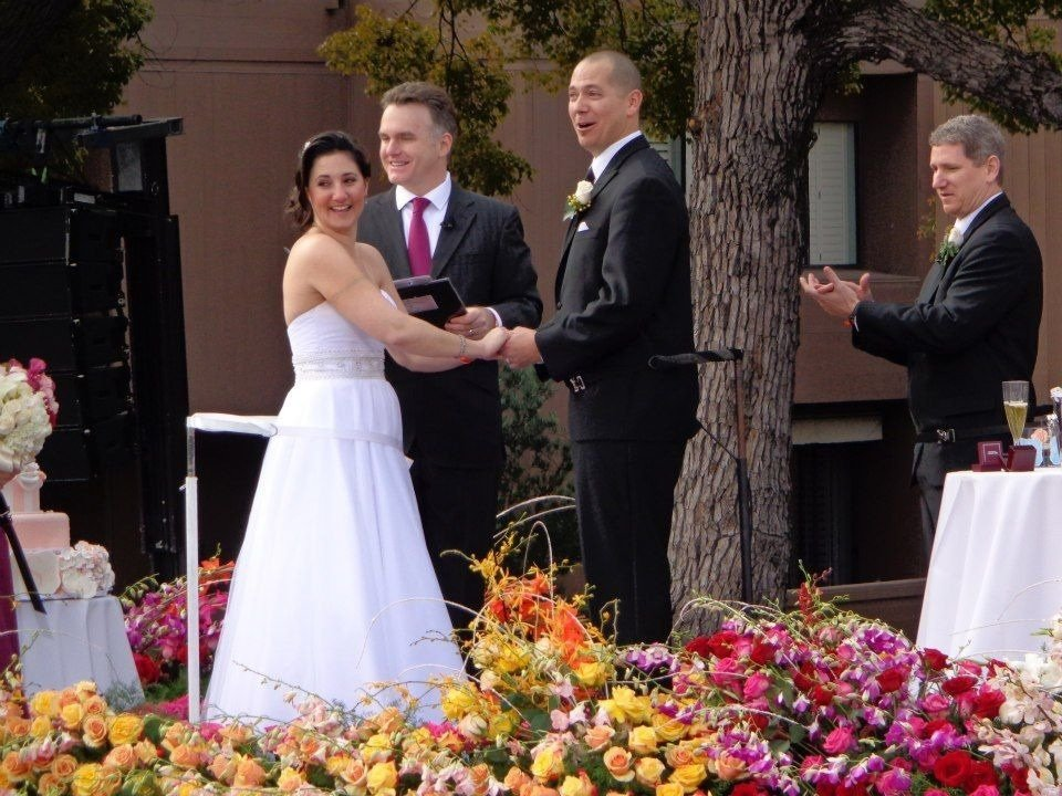 rose parade wedding