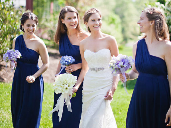 bridesmaids dresses flowers