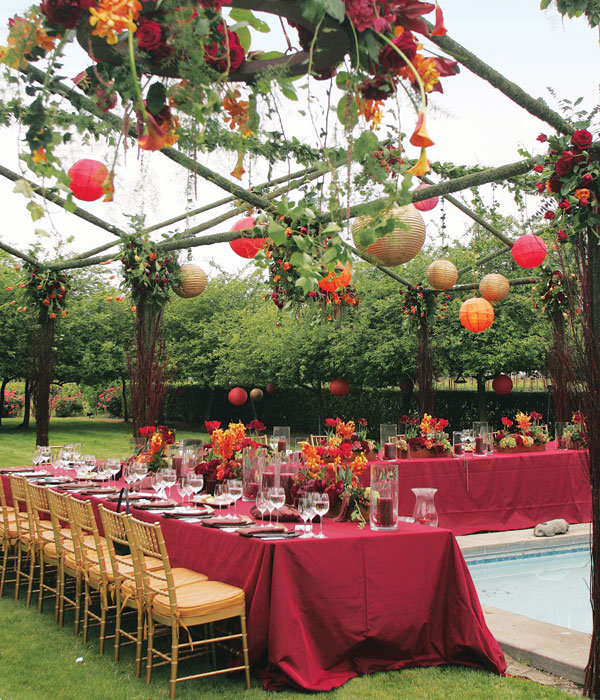 Outdoor Wedding Ideas For Fall On A Budget: All About Color: Finding Your Perfect Wedding Color