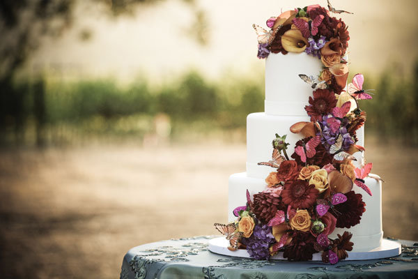 fall wedding cake Photo Credit Alisha Brook Photography