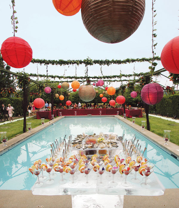 Wedding decorations on pinterest indian weddings indian for Pool decorations