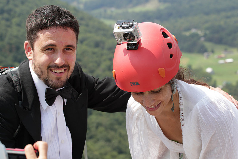 rock climbing wedding