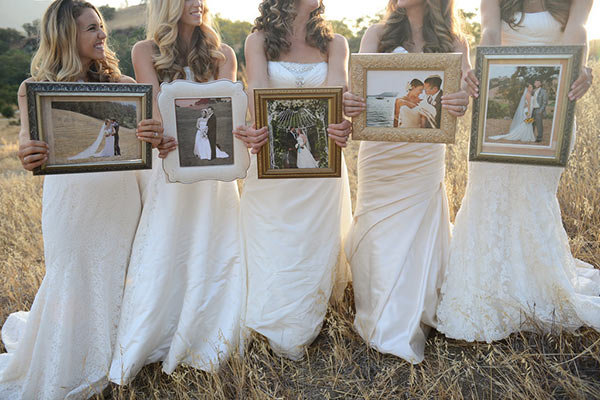This Sister Wedding Dress Shoot Is the Cutest Idea Ever BridalGuide