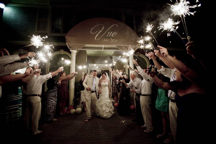 New years eve wedding ideas bridalguide sparkler wedding farewell junglespirit Gallery