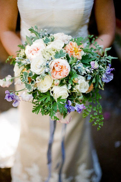 Sweet Pea Wedding Bouquet