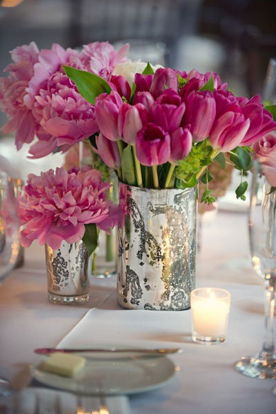 tulip wedding centerpiece