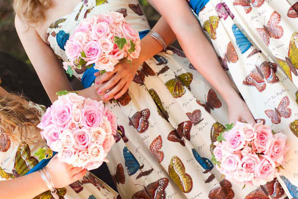 butterfly bridesmaids dresses