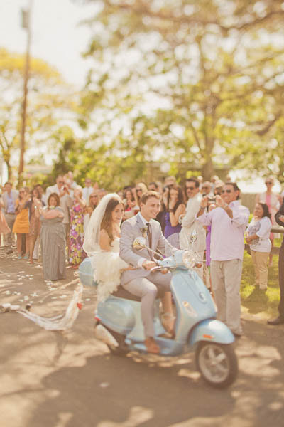 vespa wedding transportation