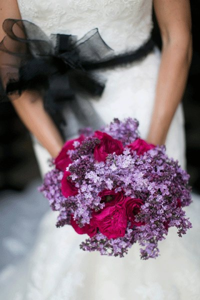 pink and violet summer bouquet