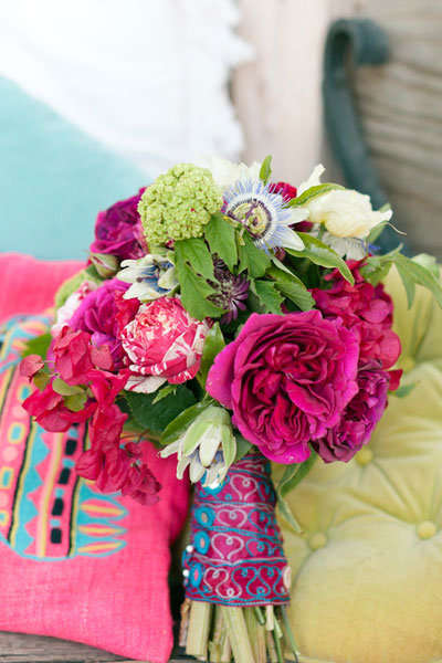bright fuschia summer bouquet