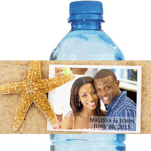 foreverwed water bottle label