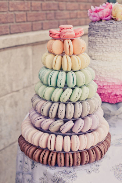 Macaron tower for wedding