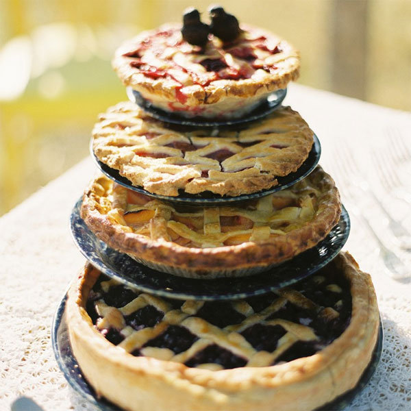 tiered pies
