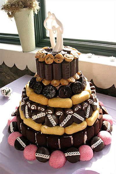 snack cakes wedding cake