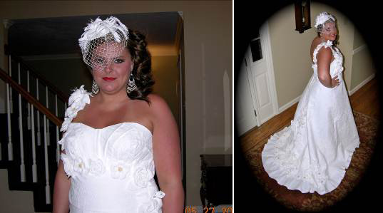 toilet paper wedding dress contest
